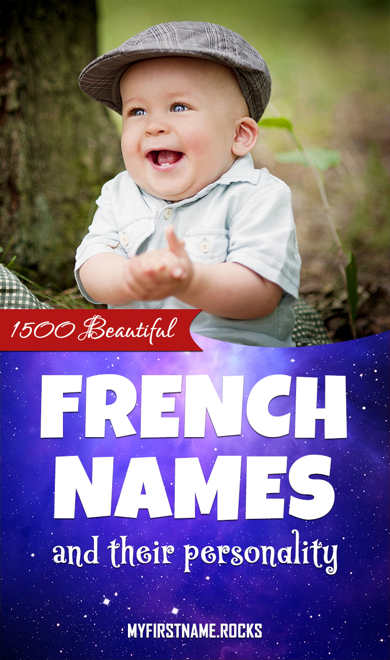 Beautiful French names infographics