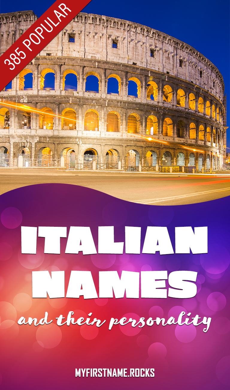 Popular Italian names infographics