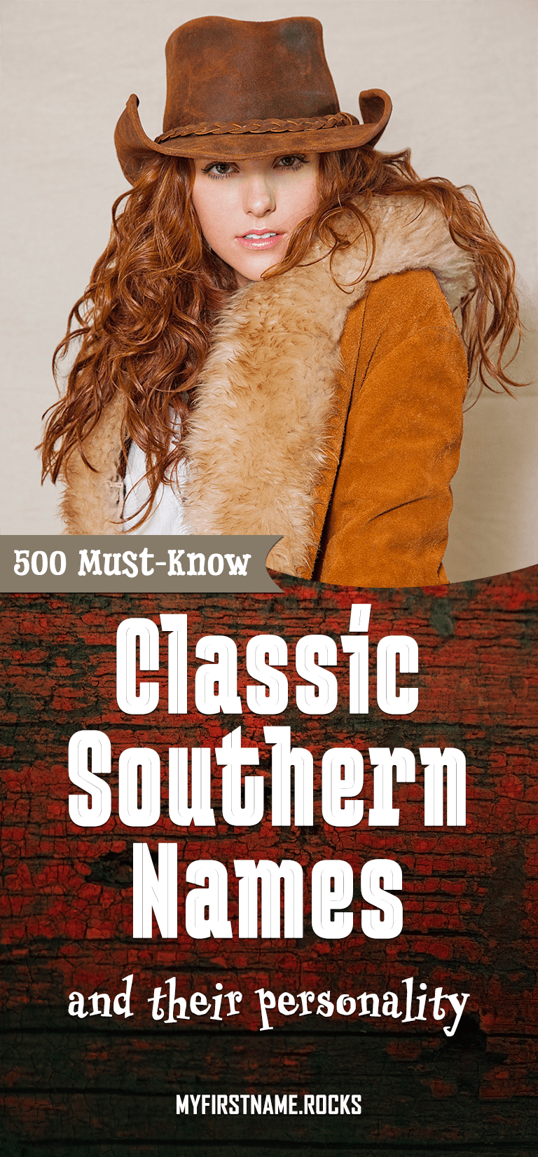 Classic Southern Names infographics