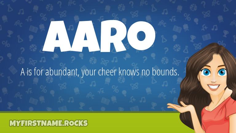 My First Name Aaro Rocks!