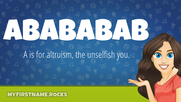 My First Name Abababab Rocks!