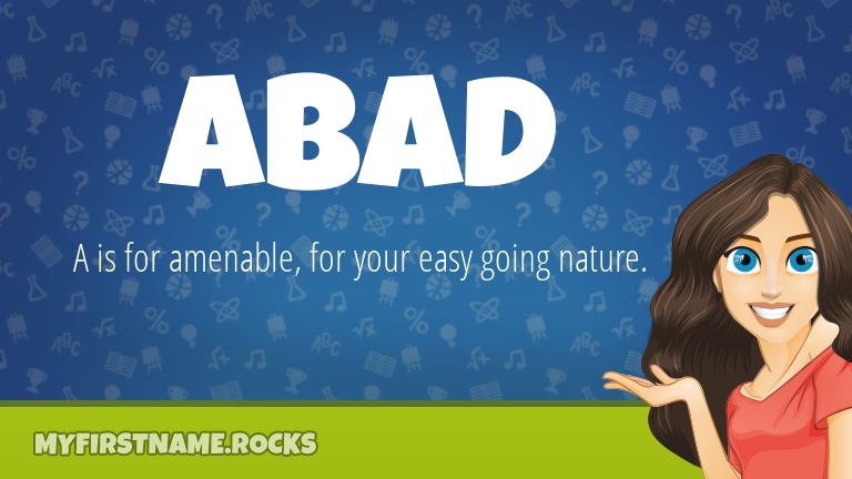 My First Name Abad Rocks!