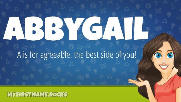 My First Name Abbygail Rocks!