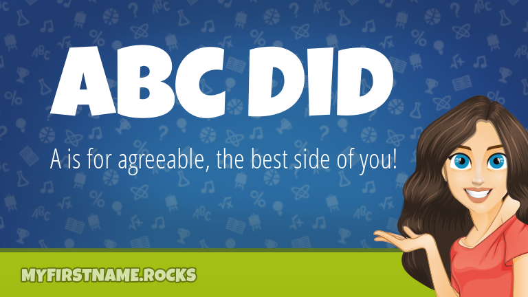 My First Name Abc Did Rocks!