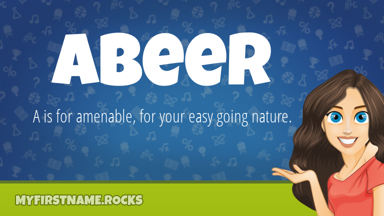 My First Name Abeer Rocks!