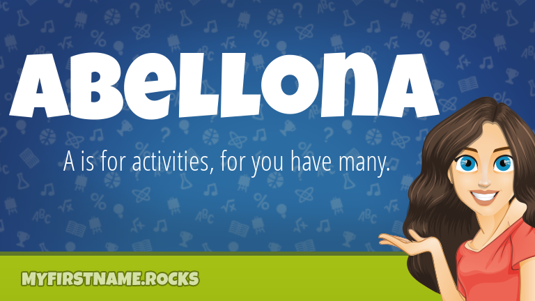 My First Name Abellona Rocks!