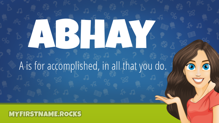 My First Name Abhay Rocks!