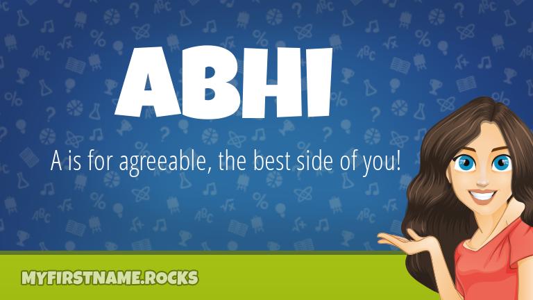 My First Name Abhi Rocks!