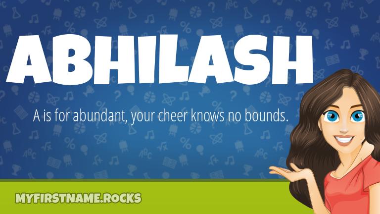 My First Name Abhilash Rocks!