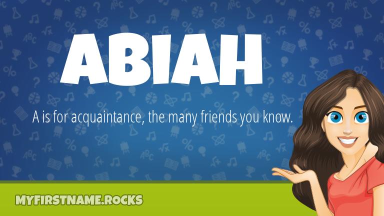 My First Name Abiah Rocks!