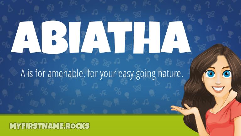 My First Name Abiatha Rocks!