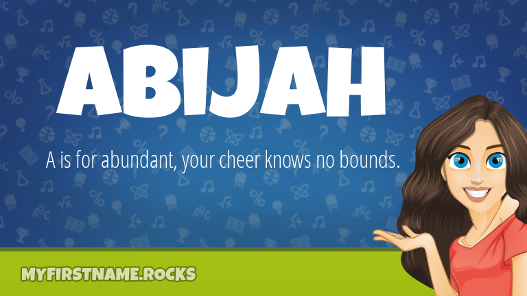 My First Name Abijah Rocks!