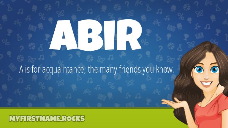 My First Name Abir Rocks!