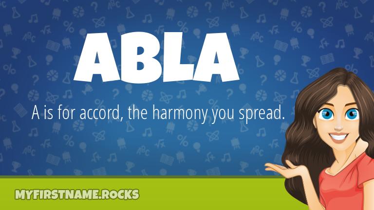 My First Name Abla Rocks!
