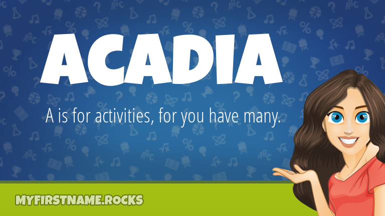 My First Name Acadia Rocks!