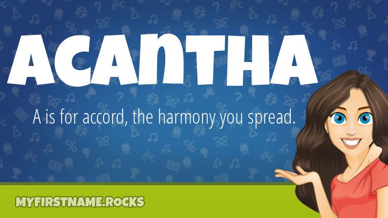 My First Name Acantha Rocks!