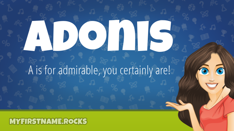 My First Name Adonis Rocks!