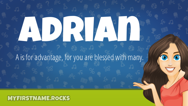 My First Name Adrian Rocks!