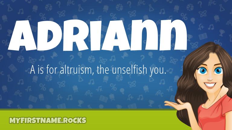 My First Name Adriann Rocks!