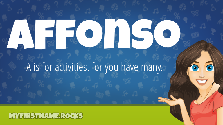 My First Name Affonso Rocks!