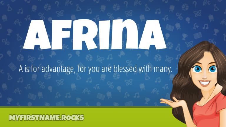 My First Name Afrina Rocks!