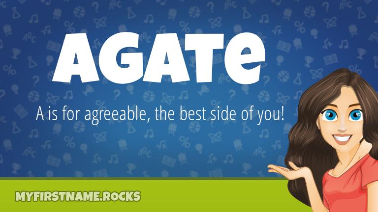 My First Name Agate Rocks!