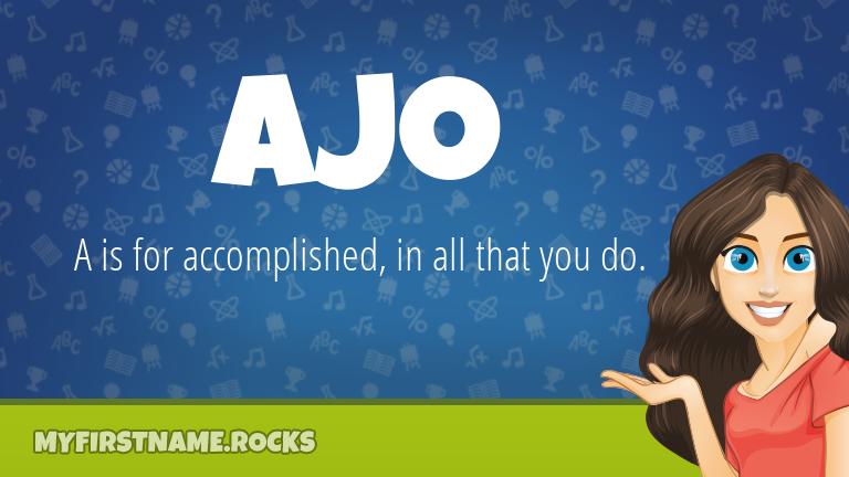 My First Name Ajo Rocks!