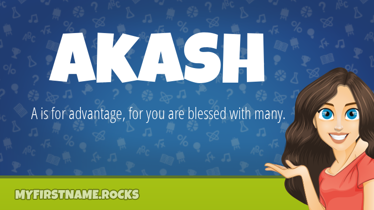 My First Name Akash Rocks!