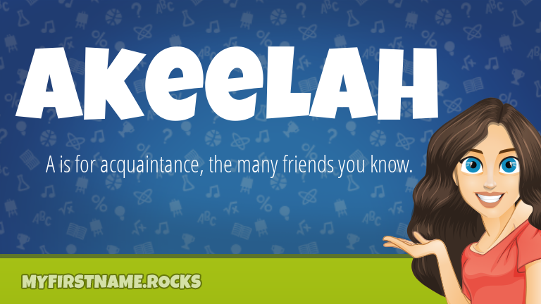 My First Name Akeelah Rocks!