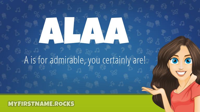 My First Name Alaa Rocks!