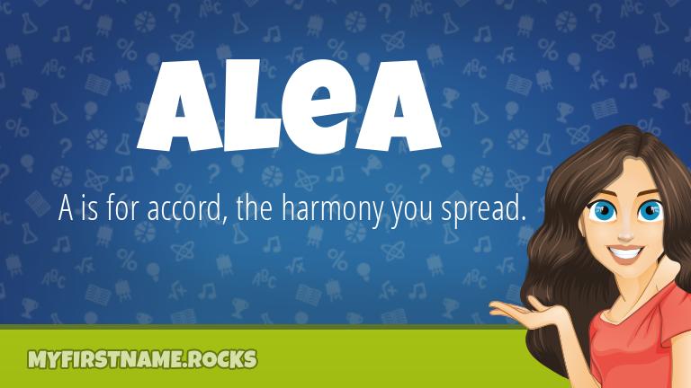 My First Name Alea Rocks!
