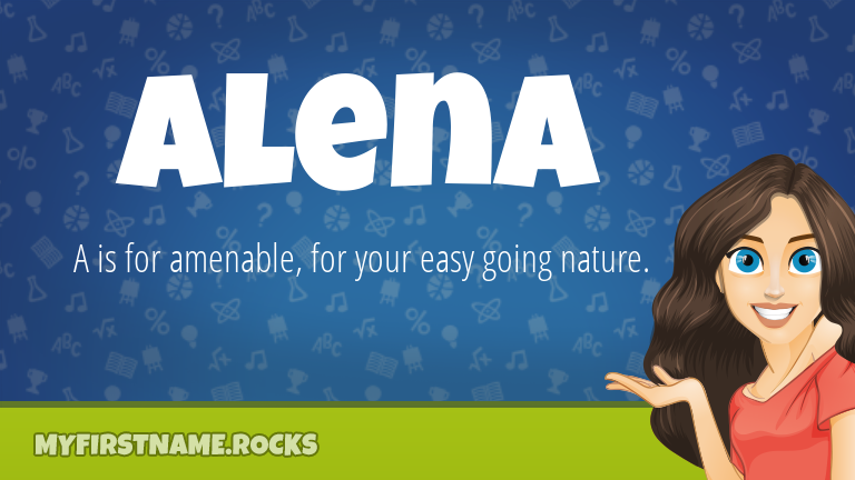 My First Name Alena Rocks!
