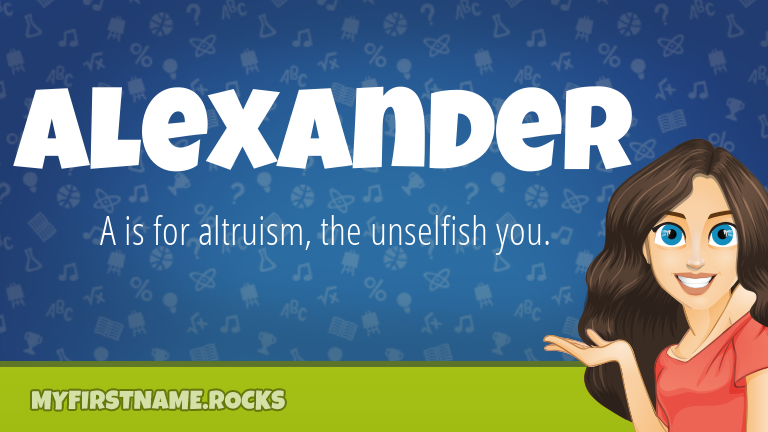 My First Name Alexander Rocks!