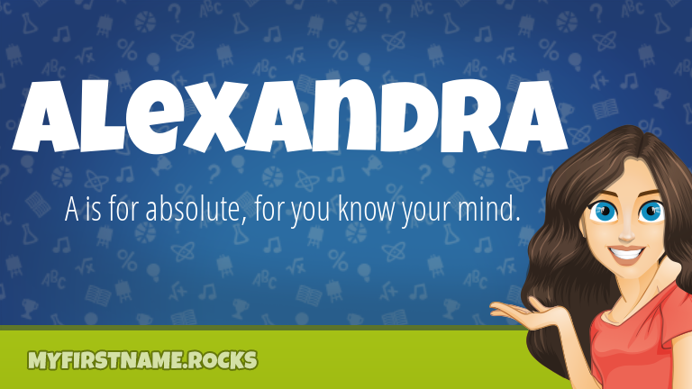My First Name Alexandra Rocks!