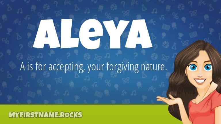 My First Name Aleya Rocks!