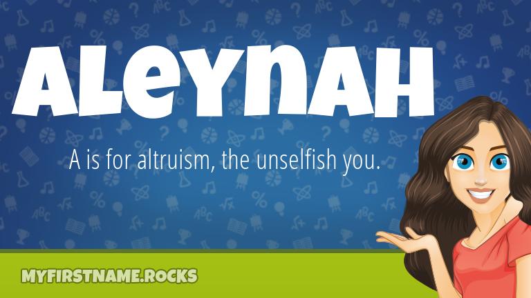 My First Name Aleynah Rocks!