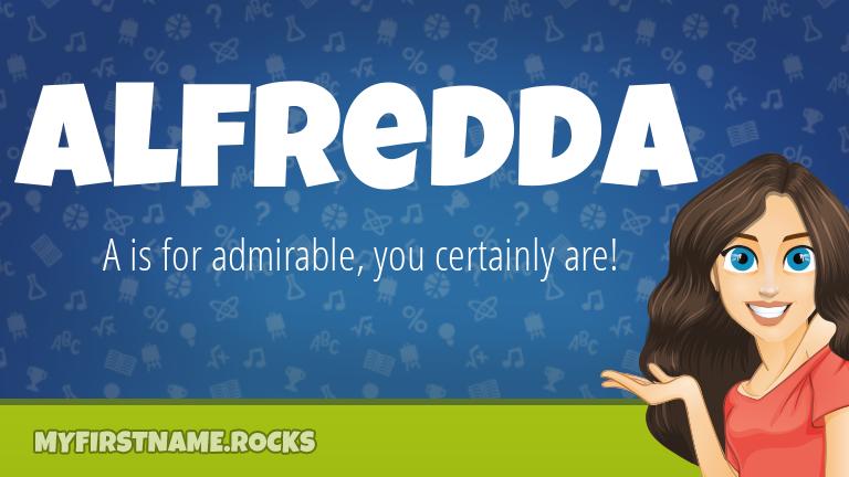 My First Name Alfredda Rocks!