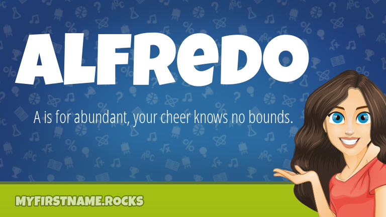 My First Name Alfredo Rocks!