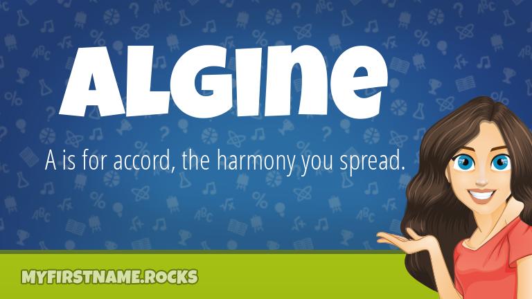 My First Name Algine Rocks!