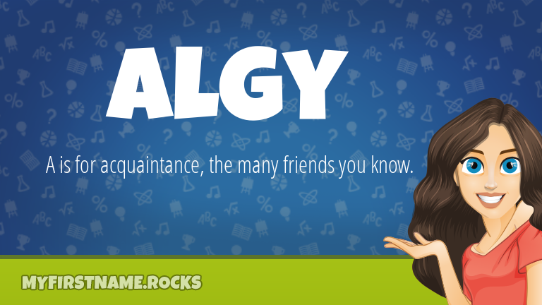My First Name Algy Rocks!