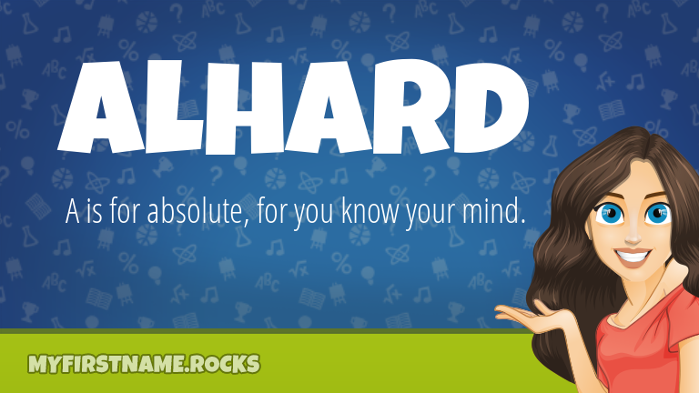 My First Name Alhard Rocks!