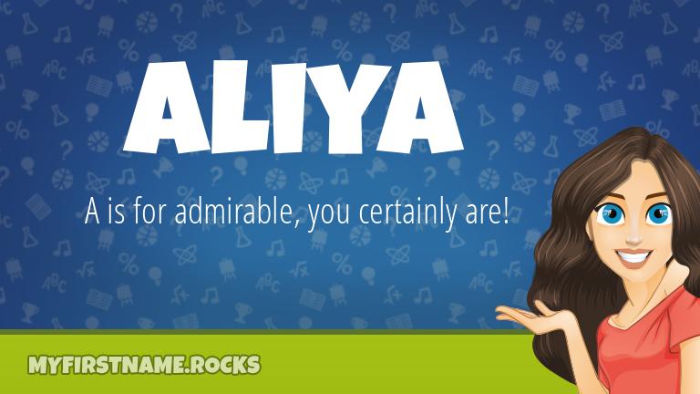 My First Name Aliya Rocks!