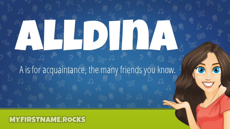My First Name Alldina Rocks!