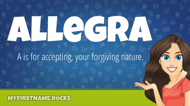 My First Name Allegra Rocks!