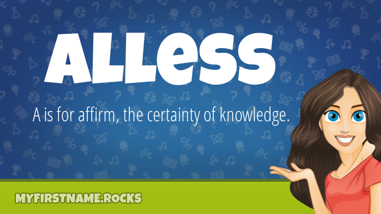 My First Name Alless Rocks!