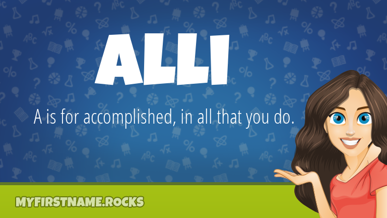 My First Name Alli Rocks!