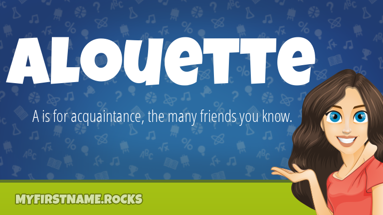 My First Name Alouette Rocks!