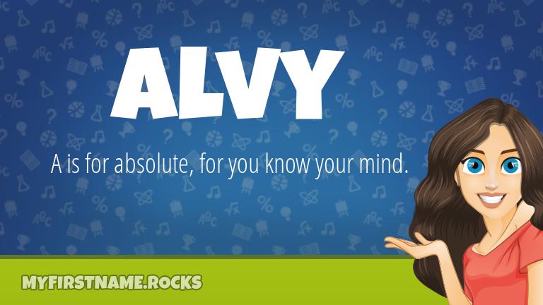 My First Name Alvy Rocks!