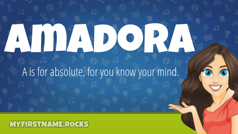 My First Name Amadora Rocks!