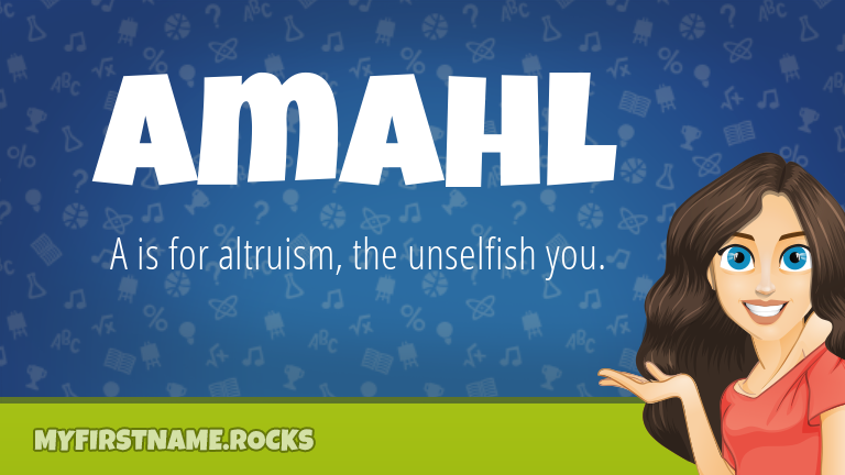 My First Name Amahl Rocks!